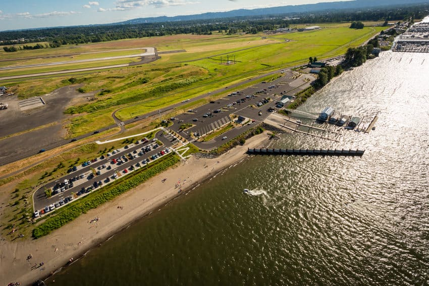 Metro's M. James Gleason Memorial Boat Ramp sits just north of the Marine Drive levee, which keeps parts of Northeast Portland dry during floods.