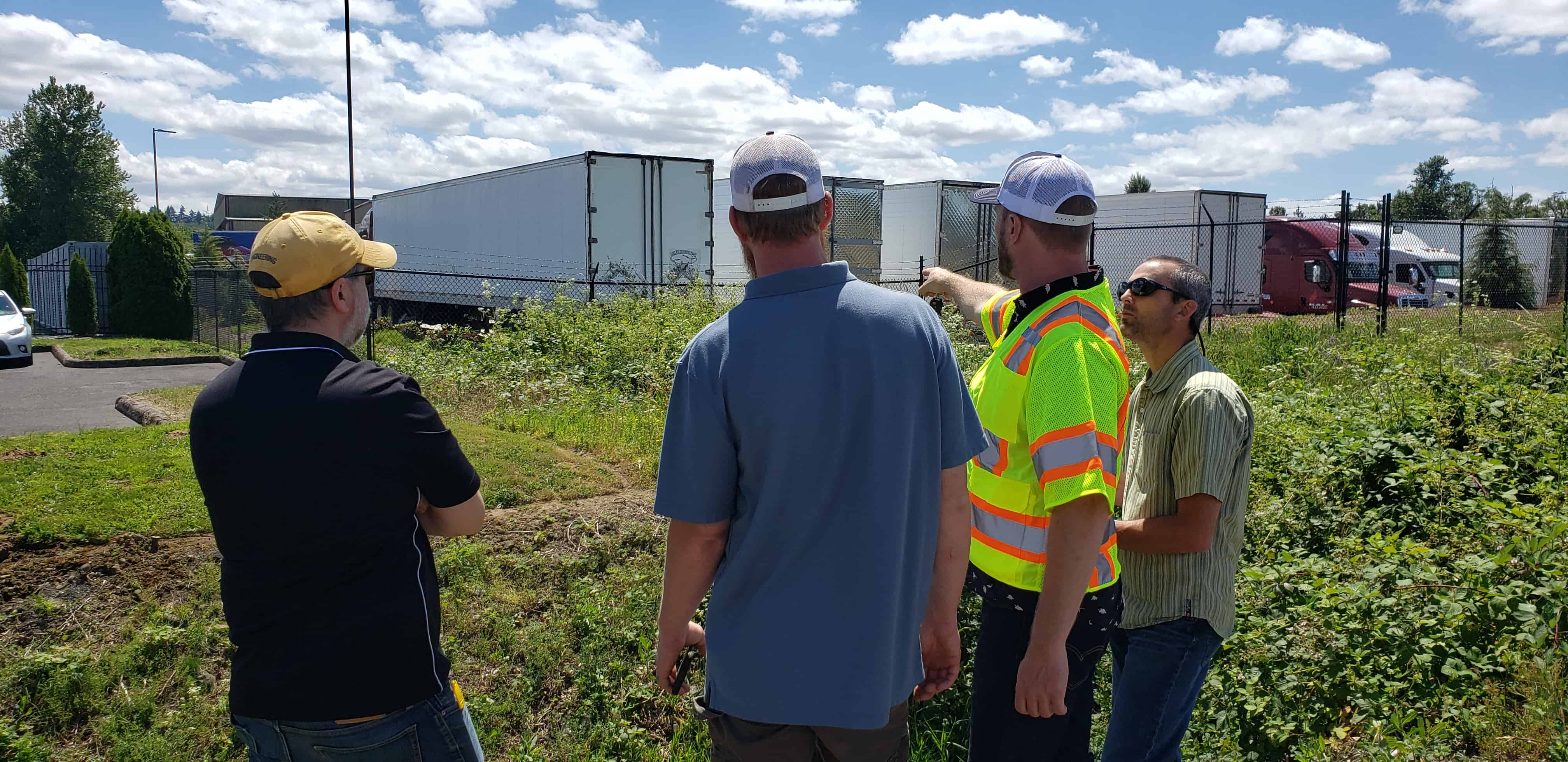 Project managers conduct site visit in preparation for SDIC Drainage Master Plan kick-off